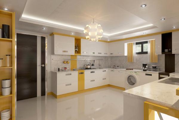 اجرای سقف کاذب برای بازسازی آَشپزخانه