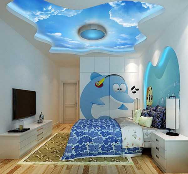 سقف کاذب برای اتاق خواب دختر