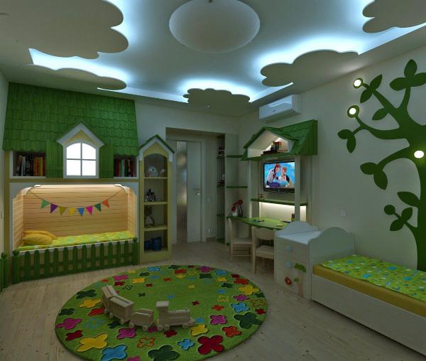 سقف کاذب کناف برای اتاق کودک