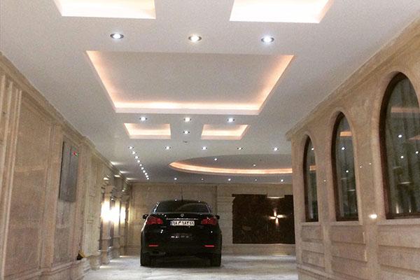 سقف کاذب کناف برای پارکینگ