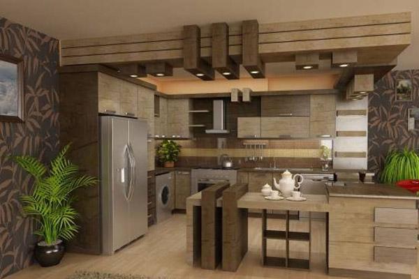 نمونه طرح آرک آشپزخانه کناف
