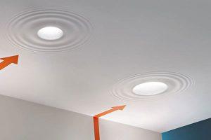 سقف کشسان با نورپردازی هالوژن
