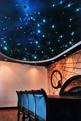 سقف کشسان با نورپردازی کریستال سواروسکی