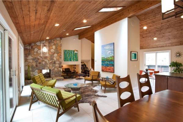 انواع سقف های چوبی کاذب