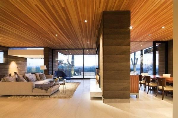 مزایا و معایب سقف کاذب چوبی
