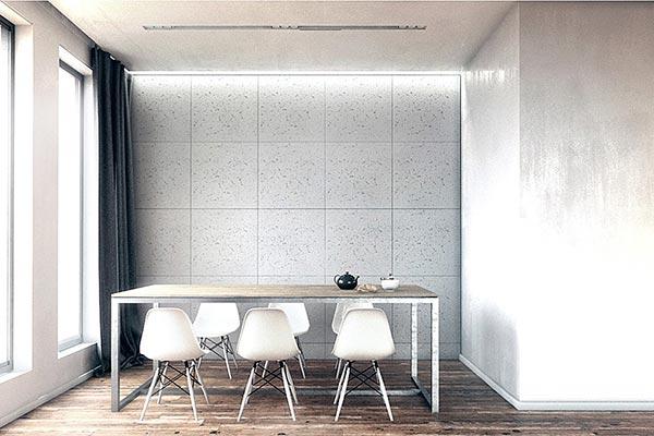 خصوصیات دیوار سه بعدی گچی