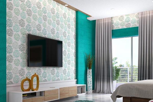 پوشش بهتر کاغذ دیواری نسب به رنگ