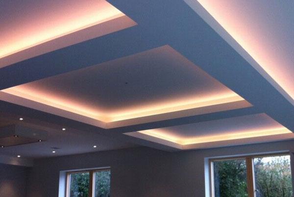 ایجاد باکس نور با سقف کناف